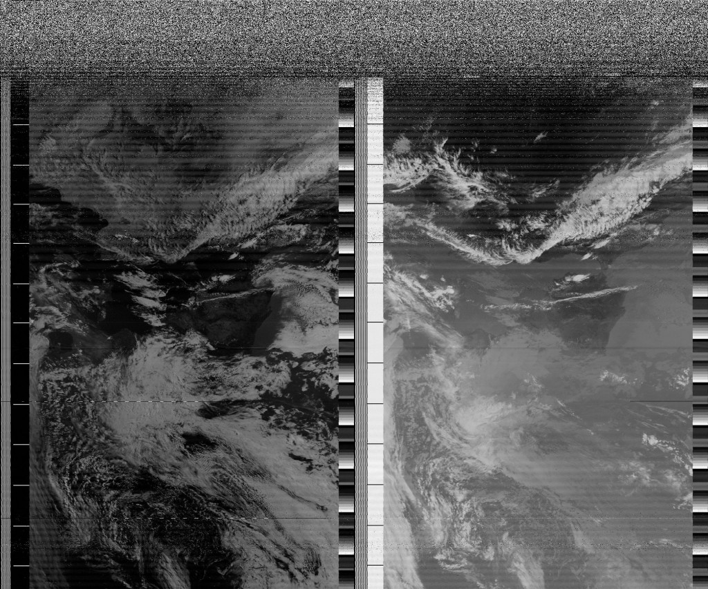NOAA18 flying over Europe (southbound) on the 19th of September, 2013