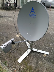 Satellite based Internet ready for field use