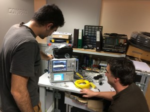 Measuring signal loss on a L band to fibre transceiver